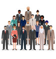 group of business people set of flat men and vector image vector image