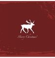 Grunge red vintage reindeer background vector image vector image