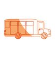 isolated big bus car vector image vector image