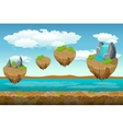 Jumping islands game pattern the river bottom and vector image vector image