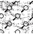 Magnifier pattern grunge monochrome vector image vector image