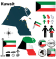 Map of Kuwait vector image vector image