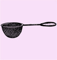 Metal kitchen sieve vector image