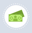money cash banknotes icon shopping concept flat vector image vector image