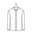 monochrome silhouette of shirt long sleeve man in vector image vector image
