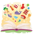 Open book and the knowledge that it contains vector image vector image