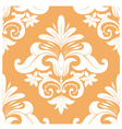 Orange Swirl Pattern vector image vector image