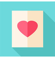 Paper list with heart vector image vector image