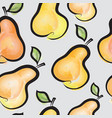 pear watercolor seamless pattern juicy fruits vector image vector image