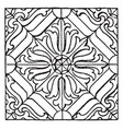 pillow pattern is a german renaissance design vector image vector image