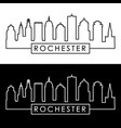 rochester skyline linear style editable file vector image vector image