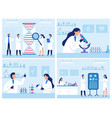scientists work in laboratory professional vector image