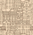 Seamless urban pattern vector image