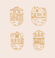 set house badges flat vector image vector image