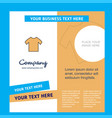 shirt company brochure template busienss template vector image vector image