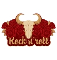 skull sheep and rock and roll vector image vector image