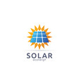 solar panel energy logo icon zero waste concept vector image vector image