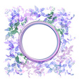 Spring background wreath with lilac purple leaves vector image vector image