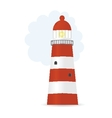 striped lighthouse vector image vector image