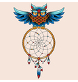 tattoo dream owl vector image vector image