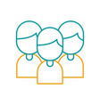 teamwork people avatars icon vector image vector image