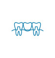teeth restoration linear icon concept teeth vector image vector image