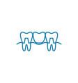 teeth restoration linear icon concept teeth vector image