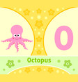 the english alphabet with octopus vector image vector image