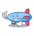 thumbs up zeppelin character cartoon style vector image