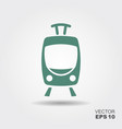 tram icon flat vector image vector image