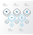 transport colorful icons set collection of vector image vector image