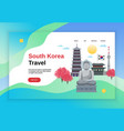 travel korea website banner vector image