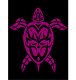 turtle in tribal vector image
