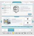 Web site template navigation elements vector image vector image