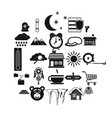 winter mood icons set simple style vector image