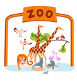 zoo entrance banner template vector image vector image