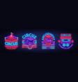 circus collection of neon signs set of logos for vector image