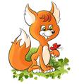 Cartoon baby fox vector image