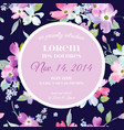 floral invitation greeting card template vector image