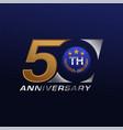50 years anniversary celebration vector image