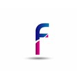 Abstract letter F logo vector image vector image