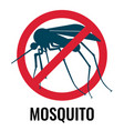 anti-mosquito label depicting fly in circle vector image vector image