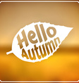 Autumn sign vector image vector image