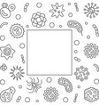 bacterium microbiology frame with empty vector image vector image