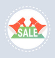 big sale label megaphone icon shopping special vector image