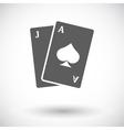 Blackjack Flat Icon vector image vector image