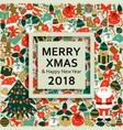christmas greeting card with text merry xmas and vector image vector image