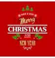 Christmas labels emblems decorative elements vector image vector image