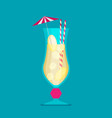 cocktail in flat style vector image vector image