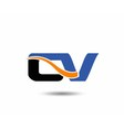 CV company linked letter logo vector image vector image